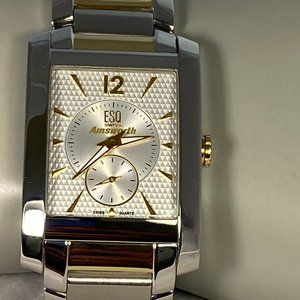 ESQUIRE Stainless Steel Tank Watch (EUC)